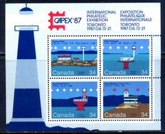 Canada 1987 / Lighthouses MNH Faros Leuchttürme Phares / Gj36  5-47 - Fari
