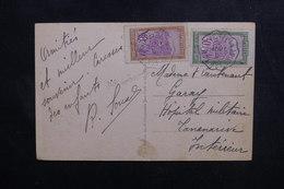 "MADAGASCAR - Oblitération Ambulant "" Tamatave / Tananarive N°1 "" Sur Carte Postale Pour Tananarive En 1936 - L 49993 - Madagascar (1889-1960)"