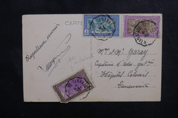 "MADAGASCAR - Oblitération Ambulant "" Tamatave / Tananarive N°4 "" Sur Carte Postale Pour Tananarive En 1938 - L 49994 - Madagascar (1889-1960)"