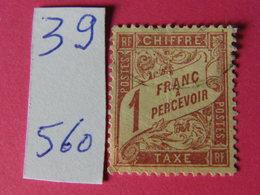Tax No 39 - 1859-1955 Neufs