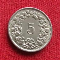 Switzerland 5 Rappen 1955 KM# 26 Suiça Suisse Svizzera Schweiz Suiza - Suisse