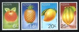 KENYA 1997 FRUIT PAWPAW MANGO PINEAPPLE ORANGE SET MNH - Kenya (1963-...)