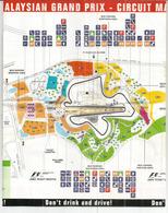 MALAYSIA.SEPANG F1 CIRCUIT MAP. SPECTATOR GUIDE.PETRONAS MALAYSIAN GRAND PRIX - Automobile - F1