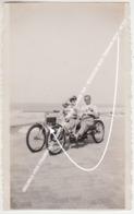 ORIGINELE FOTO STRANDWAGEN TANDEM BILLENKAR / CUISSE TAX / BELGISCHE KUST VERHUUR HEIST, HEYSTUSTUS 1912 - Knokke