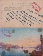 Malte 1917 Cachet Ovale: Aviso Nord-Caper (chalutier Réquisitionné). Le Roi Des Chalutiers! (2 Scannes) - Postmark Collection (Covers)