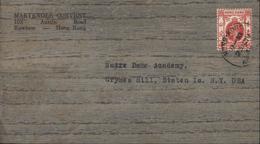 YT 11 Ou 10 CAD Hong Kong 12 30 23 Nov 33 Pour USA Papier Bois - 1902-1951 (Reyes)