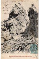 MILITARIA 437 : Cpa Taxé : Chasseur Alpins En Reconnaissance ; édit. J C A Lyon ( écrite A Briançon ) - Manovre