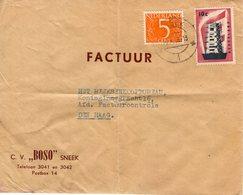 14 X 56 Envelop Met FACTUUR Met Firmalogo Van Sneek Naar Den Haag - 1949-1980 (Juliana)