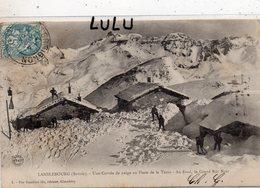 MILITARIA 439 : Lanslebourg Une Corvée De Neige A La Poste De La Turra ( Savoie ) ; édit. Vve Gauthier Fils A Chambéry - Manovre