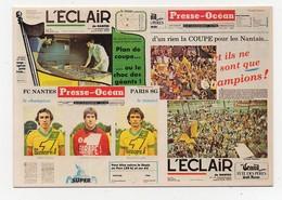 Nantes 6ème Titre De Champion De France De Foot-Ball L'Eclair Presse-Océan Cartophiles Pays Nantais - Voetbal