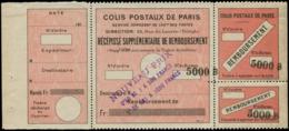 """FRANCE Colis Postaux Paris Pour Paris  N° Spink * - 52, Surcharge Violette """"Nouveau Prix"""", (non Listé), Sans """"due"""": 50c. - Non Classés"""