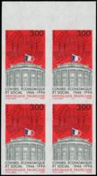 FRANCE Poste ** - 3034, Bloc De 4 Non Dentelé, Bdf: 3.00f. Palais D'Iéna - Cote: 80 - Non Dentelés