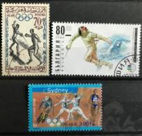 Lot 3 TB Obl. Escrime   Maroc, France, Bulgarie - Schermen