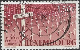 LUXEMBOURG 1947 Honouring General George S. Patton - 1f50 US Military Cemetery, Hamm FU - Usati