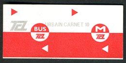 Ticket - Billet Ou Titre De Transport Métro-Bus - LYON - TCL - Unité De Carnet De 10 - Autobus