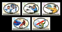 North Korea 1989 Mih. 2986/90 Physical Training For National Defence MNH ** - Korea (Nord-)