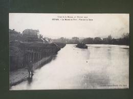 SEDAN- Inondation Du 27 Février 1910-La Meuse Au Port-Vue Sur La Gare - Sedan
