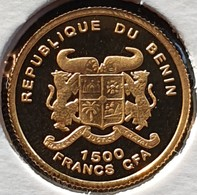 Benin 1500 Francs 2005. Albert Schweitzer  (Gold) - Benin