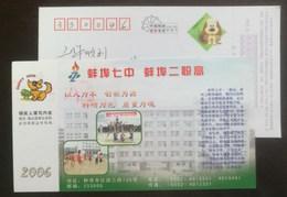 Competition Of Aerobics,Body-building Exercises,CN 06 Bengbu No.7 High School Vocational High School Pre-stamped Card - Gymnastics