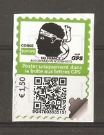 France - Poste Privée GPS Corse Avec QR - Adhésif Sur Fragment - Vignettes D'affranchissement