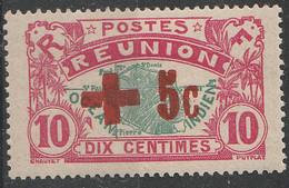 PIA - FRA - REUNION  - 1915-16 : A Profitto Della Croce Rossa - Francobollo Precedente Sovrastampato - (Yv 81A) - Primo Soccorso