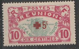 PIA - FRA - REUNION  - 1915-16 : A Profitto Della Croce Rossa - Francobollo Precedente Sovrastampato - (Yv 82) - Primo Soccorso