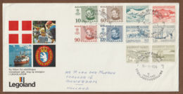 Groenland Letter -brief  1971-75  Legoland - Brieven En Documenten