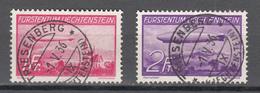 Liechtenstein 1936,2W,zeppelins,zeppeline,zepelines,zeppelin,LESE,gestempelt(A3729) - Zeppeline
