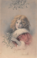 CPA Fantaisie - Enfant - Portrait Fillette - (style Viennoise) - Ritratti