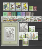 Great Britain - UK England 1980 Michel 817-860, Block 3, 44 Stamps + S/s, Complete Year Set MNH - Nuevos