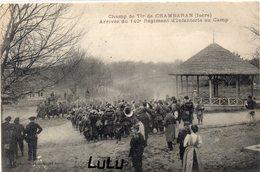 MILITARIA 448 : Champ De Tir De Chambaran , Arrivée Du 140° Régiment D Infanterie Au Camp - Manovre