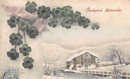 CPA Fantaisie - Bonne Année - Paysage  (style Viennoise) - Nouvel An