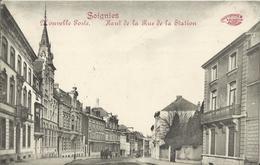Soignies Nouvelle Poste - Haut De La Rue De La Station 1913 - Soignies