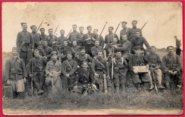 CPA CARTE-PHOTO Groupe De ZOUAVES (Fort De L'Est : 93 St SAINT-DENIS) * MILITARIA Militaire Zouave - War 1914-18