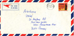 Zimbabwe Air Mail Cover Sent To Germany 10-3-1989 Single Franked - Zimbabwe (1980-...)