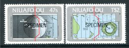 Niuafo'Ou - Tonga 1984 Centenary Of International Dateline - SPECIMEN - Set MNH (SG 46-47) - Tonga (1970-...)
