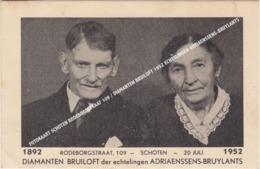 FOTOKAART SCHOTEN RODEBORGSTRAAT 109 / DIAMANTEN BRUILOFT 1952 ECHTELINGEN ADRIAENSSENS-BRUYLANTS - Schoten