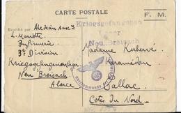 CARTE POSTALE F.M. Avec CACHET ALLEMAND    GJ - Seals Of Generality