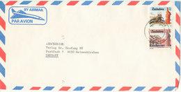 Zimbabwe Air Mail Cover Sent To Germany - Zimbabwe (1980-...)