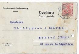 Carte Postale Avec Timbre Allemand Deuxième Reich     GJ - Mappe