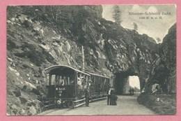 68 - Vogesen - MUNSTER - SCHLUCHT - Tramway électrique - Bergbahn - Zahnradbahn - Schluchtbahn - Tunnel KRAPPENFEL - Frankrijk