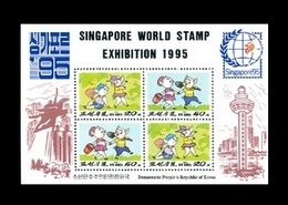 North Korea 1995 Mih. 3683/84 Philatelic Exhibition In Singapore. Cartoon Pigs MNH ** - Korea (Nord-)