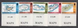 Alderney 1989 - Maps Of Alderney, Set Of 5 Stamps, MNH** - Alderney