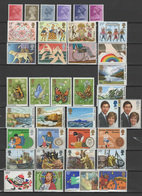 Great Britain - UK England 1981 Michel 861-889,891-899, 38 Stamps MNH - Nuevos