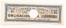 (DesemBEC) Acciones De Ferrocarril, COMPAÑÍA DE TRANVÍA DE SAN SEBASTIÁN - Acciones & Títulos