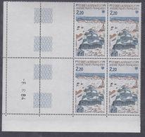 TAAF N° 112 XX Paysage Antarctique En Bloc De 4 Coin Daté Du 6.6.84. à 60 % De La Faciale, Sans Charnière, TB - Unused Stamps
