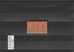 N°141**double Avec Piquage Décalé Cote 80€ - Unused Stamps