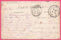 Ambulant LOUHANS à DIJON + BRUE AURIAC Perlé 1915 - Saint Jean De Losne - Place D'Armes L'Hôpital - Animée - Edit. ANIOT - Marcofilie (Brieven)