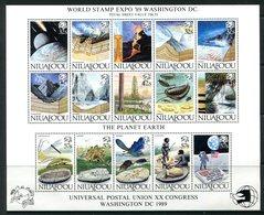 Niuafo'Ou - Tonga 1989 20th UPU Congress, Washington Sheetlet MNH (SG MS132) - Tonga (1970-...)