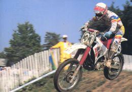 N°1018 T -cpsm John Van Den Berk (hollande) Moto Cross - Sport Moto